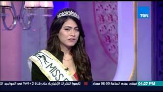 قمر 14 - الوصيفة الثانية هاجر أحمد لملكة جمال البيئة تتحدث عن دور وأهمية مسابقة miss eco 2016