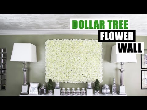 DIY DOLLAR TREE FLOWER WALL DIY Floral Wall Home Decor