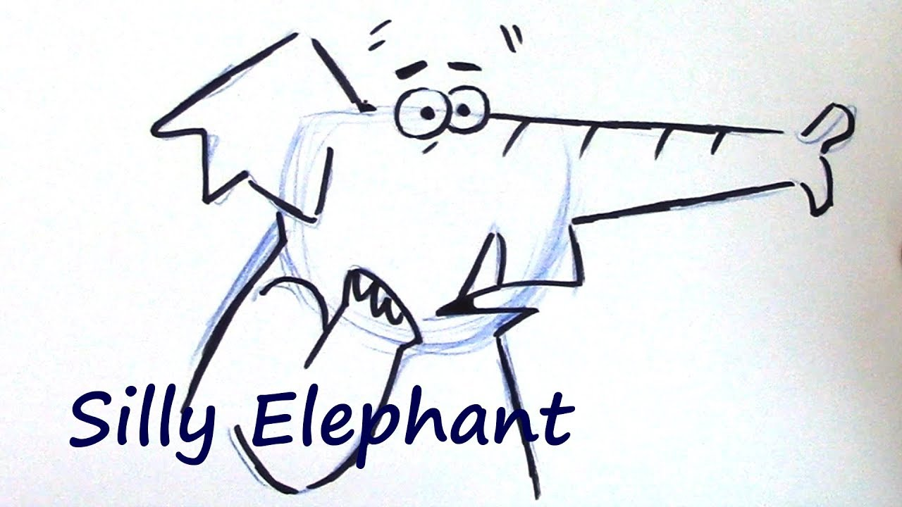 draw a cartoon elephant great for beginners youtube