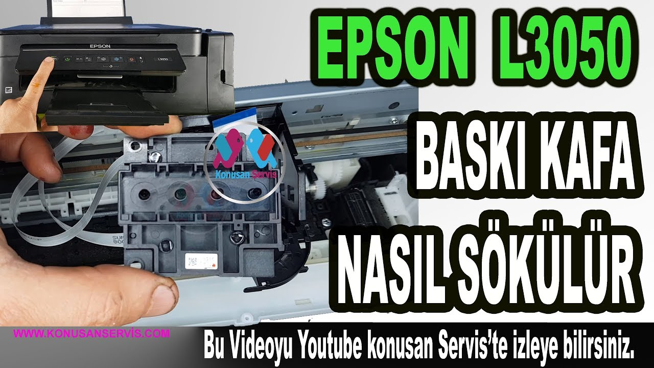 How to remove the print head for Epson L3050