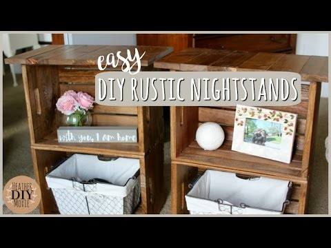 DIY Bedroom Furniture⎪Rustic Nightstands