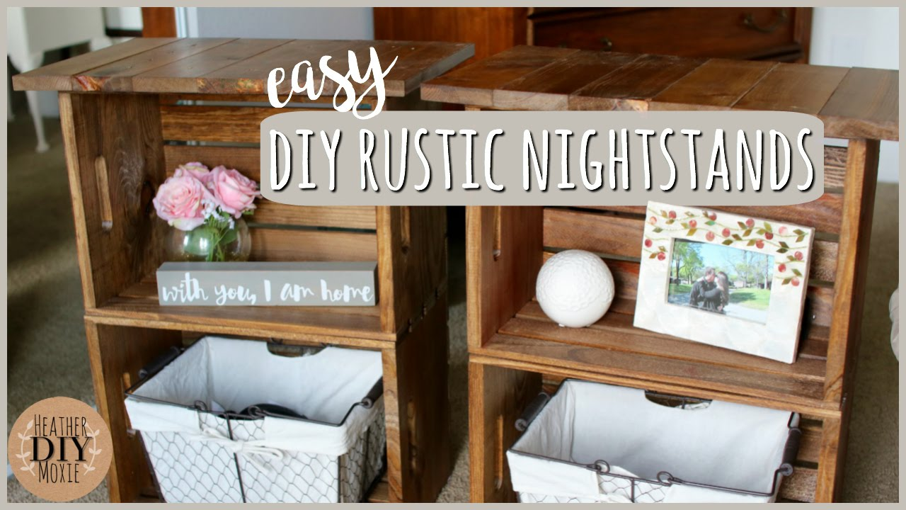 diy bedroom furniture rustic nightstands youtube. Black Bedroom Furniture Sets. Home Design Ideas
