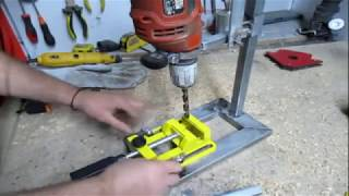 Homemade DRILL PRESS stand | HAND DRILL STAND