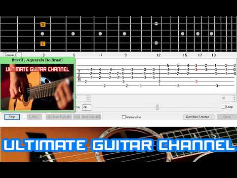 Guitar Solo Tab Brazil Aquarela Do Brasil Youtube