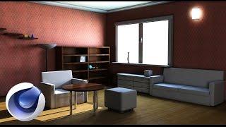 Создание комнаты в Cinema 4D r16 (speed art). Попытка №1.