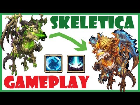 SKELETICA Gameplay - Maxing Out MONSTER Castle Clash