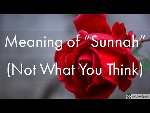 SUNNAH: Its Meanings In  Different Branches Of Islamic Knowledge ( Sunnah Of  Vs  Sunnah)
