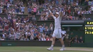 Murray celebrates thrilling five-set win over Tsonga
