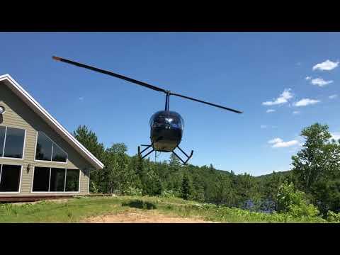Pourvoirie du Lac Blanc. Forfait Hélicoptère