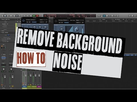 Remove Background Noise in Logic X - Noise gate, Expander - noise reduction