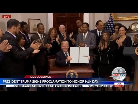 🔴WATCH: President Trump Proclamation to Honor Martin Luther King, Jr. Day