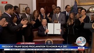 🔴WATCH: President Trump Proclamation to Honor Martin Luther King, Jr. Day thumbnail
