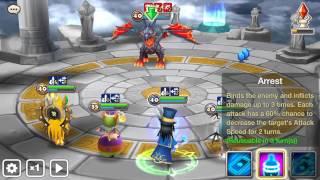 Summoners War : Akhamamir (wind Ifrit ) Arena test 4 round