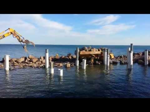 RMYS marina breakwater works at St.Kilda Harbour 28 May 2013