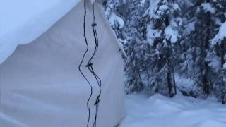 Canvas Tent in Winter!