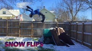 I FLIPPED OFF A CAR!!! (snow flips)