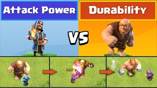 Every Level Wizard VS Every Level Giant | Clash of Clans