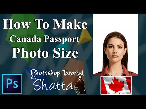 How To Make Canada Passport Size Photo | Visa Photo Requirment And Size