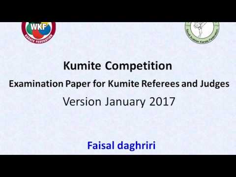 Examination for Kumite Referees and Judges  Version January