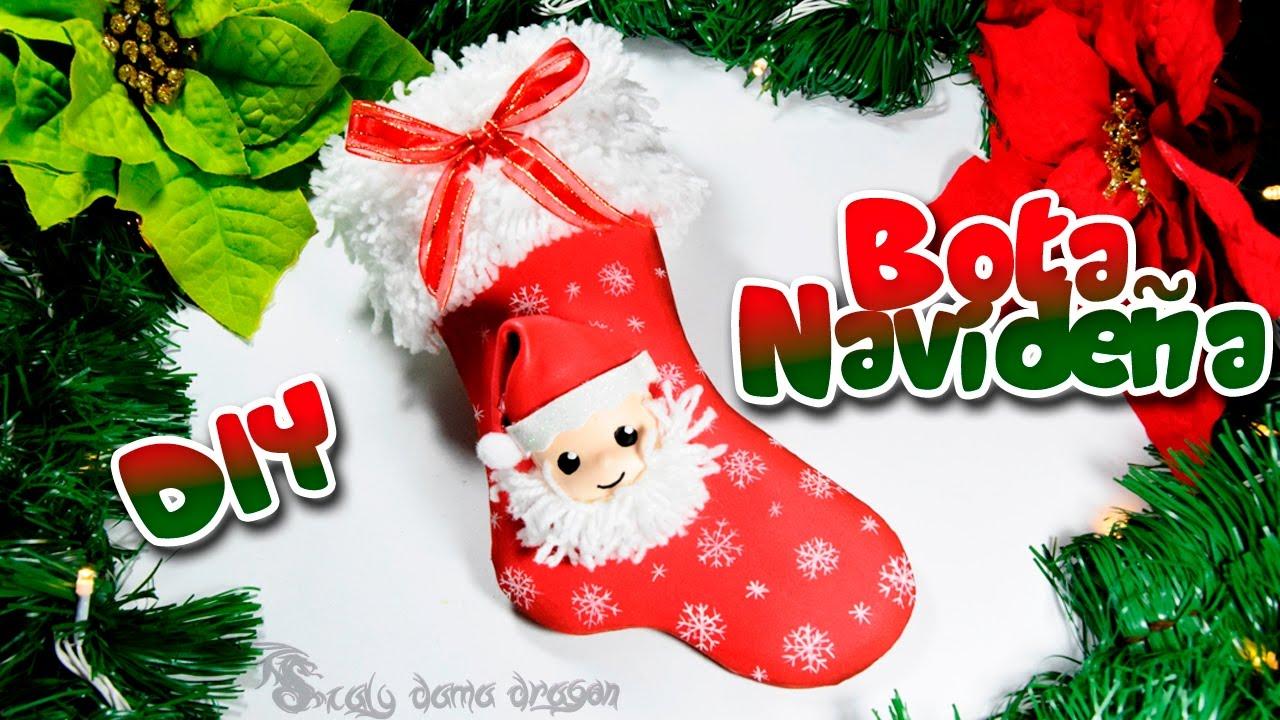 Bota o calcetn navideo en foamy o goma eva DIY Especial Navidad