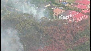 Bushfire threatening properties on Sydney's north shore