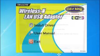 Procedure on how to install CW mini150 Wireless N USB Network Adapter in Windows 7