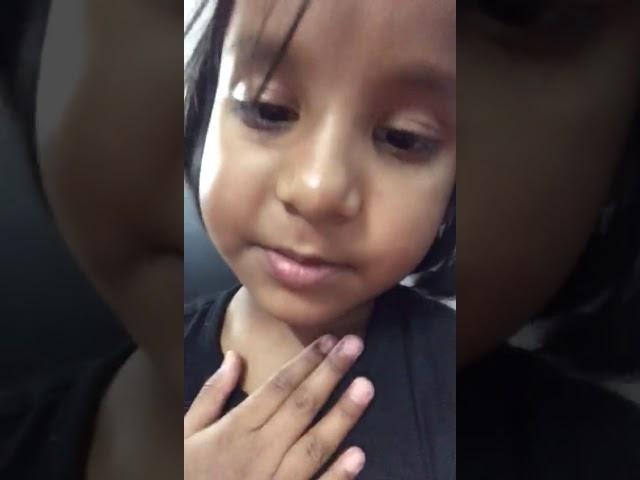 Little Girl Awareness message about Corona Virus