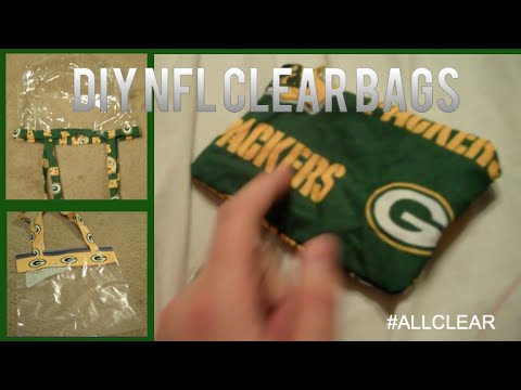 3 DIY NFL FOOTBALL CLEAR BAGS