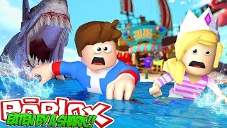 Minecraft ROBLOX EATEN BY A SHARK OBBY w/ Little Donny & Baby Leah!!