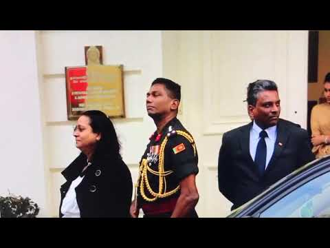 Sri Lankan military official motions a death threat to Tamils protesting in London