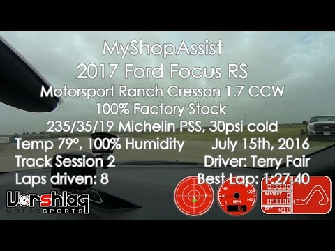 Track Test: Ford Focus RS at MSR-Cresson, July 15, 2016