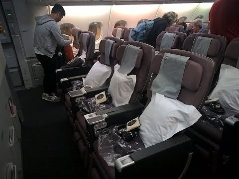 Qantas Premium Economy Trip Report A380