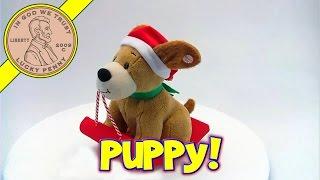 Animated Christmas Jingle Bells Sledding Barking Puppy Dog Toy