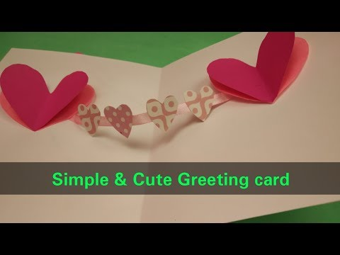 Simple handmade greeting card making idea for kids/DIY paper craft idea/Beautiful Birthday card