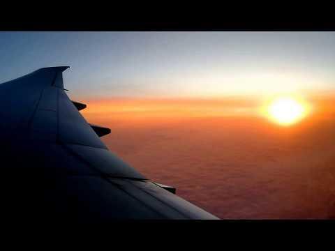 INFLIGHT SUN DOWNER CX288 by CATHAY PACIFIC B777-300ER  FRANKFURT-HONGKONG