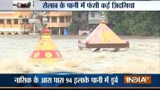 Heavy Rain and Flood Strike Nashik District, Godavari River Bursts its Banks