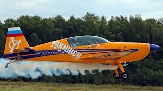 Пилотаж на Extra-330LC с использованием дым-системы