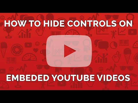 How to Hide Control Bar and Title Bar of Youtube Video Embed Code
