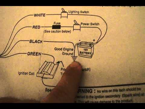 auto gauge tach wiring diagram reprap autometer jr 6650 - briggs engine tachometer instructions meter youtube