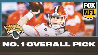 The new york jets beating cleveland browns means they gave up no. 1 draft pick to jacksonville jaguars. charlotte wilder thinks trevor lawrence w...