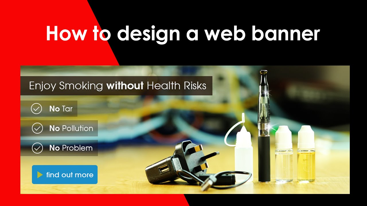 How To Create Web Banner Design In Photoshop CS6   YouTube