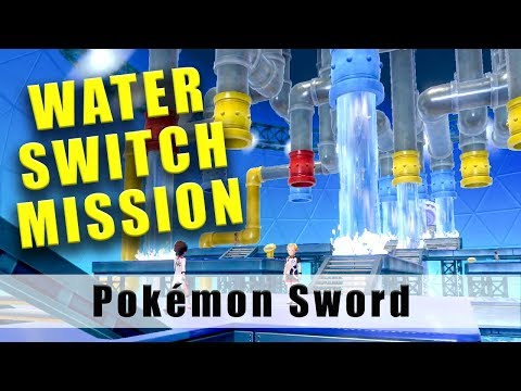 Pokemon Sword water switch maze Water Gym Mission Hulbry Stadium thumbnail