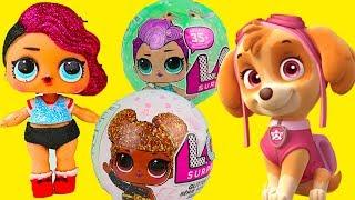 Щенячий патруль мультики с игрушками #КУКЛЫ ЛОЛ новые подружки Играем в Куклы ЛОЛ видео для детей
