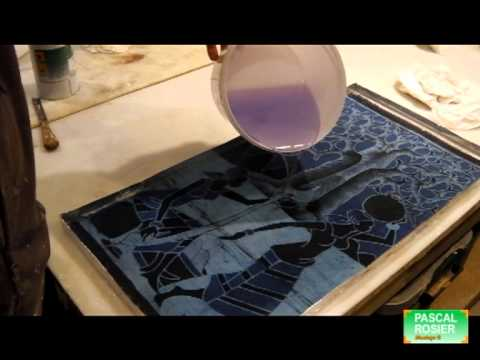 vitrification avec la resine epoxy sur une toile peinte youtube. Black Bedroom Furniture Sets. Home Design Ideas