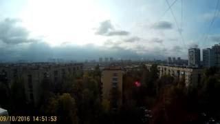 Смотреть видео Воскресная Москва из моего окна! онлайн