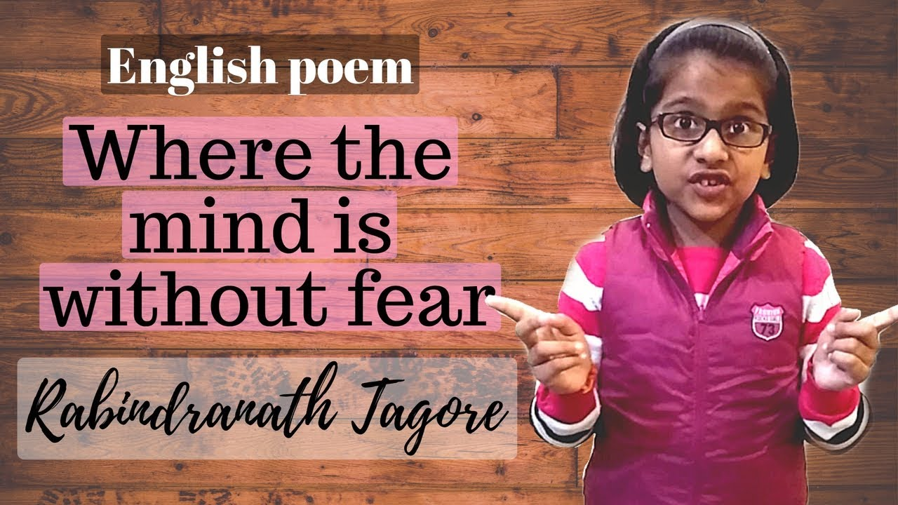 English Poem recitation competition 1st Prize, Where the Mind is without  Fear I Kids Lounge