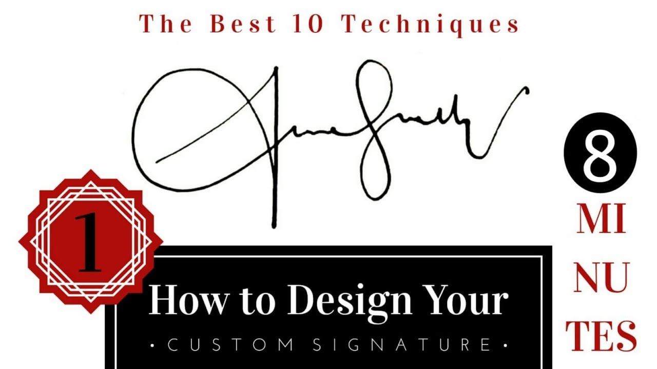 The Best Signature Examples with 10 Techniques | How to Draw Custom Signature? #1