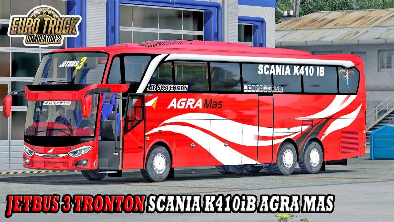 Trip Report Nyobain Bus Terbaru Agra Mas Jetbus 3 Shd Scania K410ib Ets2 Mod Indonesia