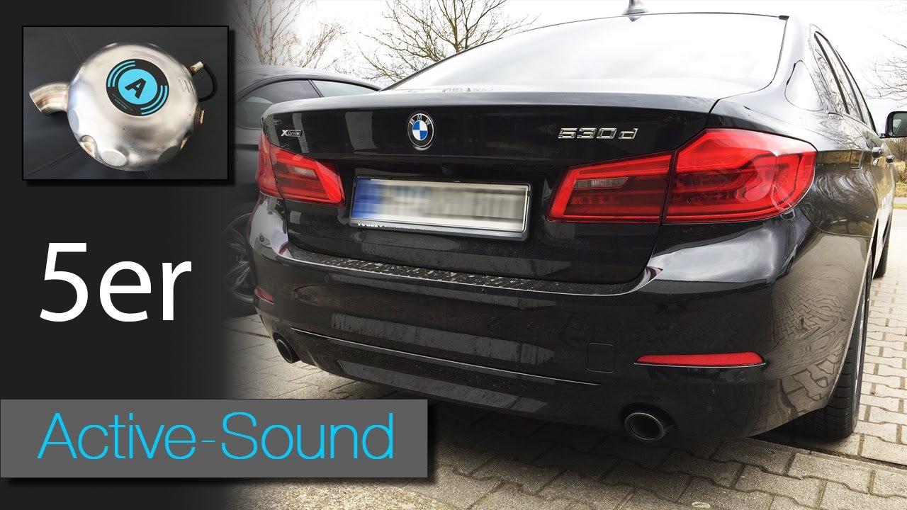 der neue 5er bmw g30 530d diesel mit active sound youtube. Black Bedroom Furniture Sets. Home Design Ideas