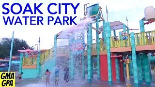 A Tour Of Kings Island's Soak City Water Park - Body Board Surfing, Drop Slides, + Fun Kid's Areas